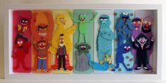 Muppet Spectrum, paper illustration by Jared Andrew Schorr