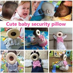 JJOVCE brand Baby Head protection pad Toddler headreast pillow  Neck Cute Wings Nursing Drop resistance cushion baby protect
