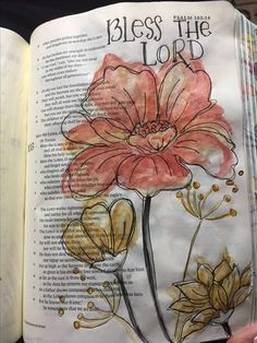 Psalm 103 Bible art journaling by @patjournals