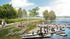 The National Capital Commission has approved plans for the Ottawa River South Shore Riverfront Park, an expansive corridor spanning more than 200 hectares of riverfront land between Mud Lake and LeBreton Flats. Landscape Design Plans, Landscape Architecture Design, Urban Architecture, Classical Architecture, Ancient Architecture, Sustainable Architecture, Park Landscape, Urban Landscape, Ottawa River