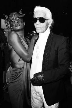 Grace Jones and Karl Lagerfeld