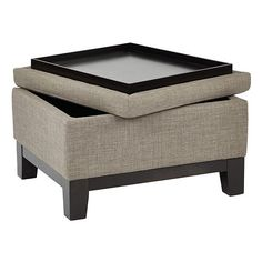 Ave Six Regent Upholstered Storage Ottoman with Reversible Tray farmhouse storage ottoman Gone are the days when decorating was a a single-a. Upholstered Ottoman Coffee Table, Storage Ottoman Coffee Table, Ottoman Stool, Square Ottoman Coffee Table, Ottoman Tray, Diy Storage Ottoman, Diy Ottoman, Fabric Ottoman, Couch Storage