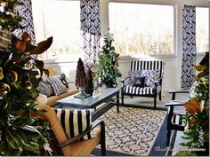 Gorgeous living space decorated for the holidays!