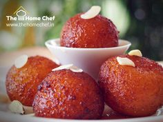 #MelodyMonday-Start your melodious day with delicious #Gulabjamun from www.thehomechef.in #OrderFoodOnline #FoodLovers #FoodDeliveryServices #EnjoyMonday #TheHomeChefIndia