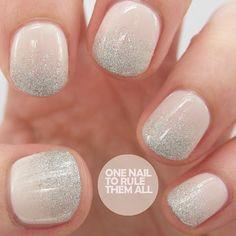 Super sober natural shimmer nail art. #nails #nailart