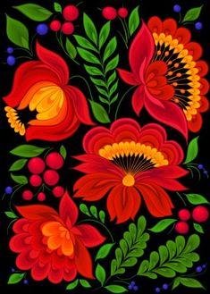 Folk Art Flowers, Flower Art, Art Floral, Mexican Flowers, Polish Folk Art, Scandinavian Folk Art, Mexico Art, Inspiration Art, Mexican Folk Art