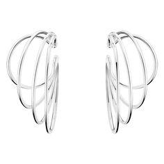 ALLIANCE earhoops - sterling silver