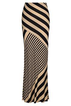 Cut-About Stripe Skirt