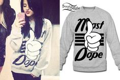 Most Dope Sweater worn by the only Becky G.