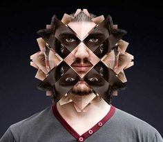 Norg Nodis spectacular series of works called Kaleidoscope portraits. In this photo-series people's portraits photographed using kaleidoscope. Symmetry Photography, A Level Photography, Portrait Photography, Face Symmetry, Symmetry Art, Kaleidoscope Images, Surreal Photos, Collage Illustration, Photoshop Brushes