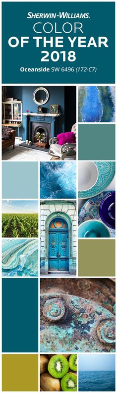 Looking for a color as inviting as the ocean itself? Look no further than the Sherwin-Williams Color of the Year 2018. Its deep blue hue inspires serenity, balance & introspection—not to mention creativity. Imagine it paired with complementary hues like High Strung SW 6705, Tansy Green SW 6424, Lagoon SW 6480 or Aqua Fria SW 9053. Or, use it as its own bold accent color on walls, doors & anywhere else in the home that needs a powerful pop of drama. Dive in & explore Oceanside SW 6496.