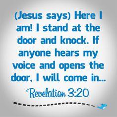 Bible Verse ~ Revelation 3:20