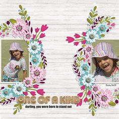 wreathed in flowers dressed up by Fiddle dee Dee Designs http://the-lilypad.com/store/Wreathed-In-Flowers-Dressed-Up-Digital-Scrapbook-Template.html Everyday Magic by ForeverJoy Designs