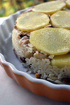 Patatesli Tavuklu  İran Pilavı