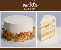 Dulce De Leche Crunch  Yellow Butter Cake with Layers of Caramel Mousse, Mascarpone Cream & Homemade Toffee Bits