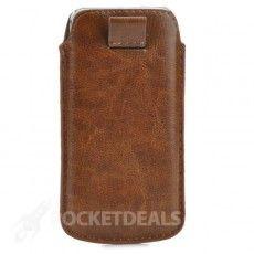 Bruine Pull-Up Case voor iPhone 5/5s/5c