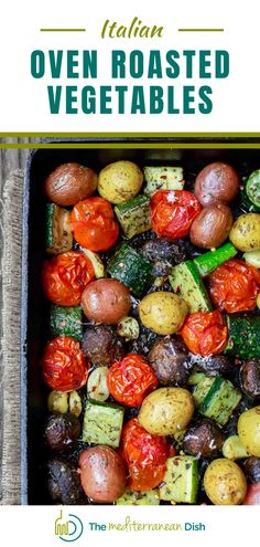 These easy roasted vegetables are a perfect side for just about any dinner you are having! You can also have for an amazing vegetarian dish over rice or quinoa! Make this up for a tasty addition to you Holiday Table! Mediterranean Side Dish Recipe, Mediterranean Diet Recipes, Mediterranean Dishes, Easy Appetizer Recipes, Easy Recipes, Dinner Recipes, Healthy Recipes, Best Side Dishes, Side Dish Recipes