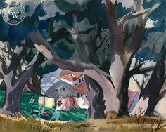 Mary Blair - Laundry Day, 1941 - California art - fine art print for sale, giclee watercolor print - Californiawatercolor.com