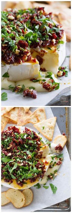 Baked Brie Recipe with Sun-Dried Tomatoes Ingredients 4 oz sun-dried tomatoes, finely chopped 3-4 cloves garlic, minced ...