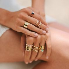 Simple, easy stacking rings
