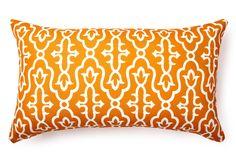 BEST OF ONE KINGS LANE  14x24 Moroccan Outdoor Pillow, Orange  DIVINE DESIGNS    $45.00