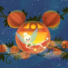 """and I are doing """"light vs dark"""" takeover event. I will be doing live demo paintings and signings oct. from Will have original. Disney Nerd, Arte Disney, Disney Fan Art, Disney Love, Disney Magic, Baby Disney, Disney Halloween, Happy Halloween, Tinkerbell"""