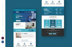 Business Email Newsletter UI Template by TMint on Envato Elements Email Template Design, Email Templates, Newsletter Templates, Portfolio Web Design, Portfolio Website, Subscribe Newsletter, Business Emails, Email Newsletters, Co Working