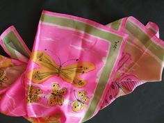 Vintage Vera Scarf with Butterflies  by rosiesrecycledcrafts, $19.99
