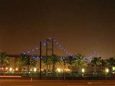 The Vincent Thomas Bridge in San Pedro, California