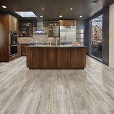 """Added this Allure ISOCORE Vinyl Plank DIY Flooring to my Wishlist - It's """"Normandy Oak Light"""". Available exclusively at The Home Depot. Click the Pic to Shop it! Luxury Vinyl Flooring, Vinyl Plank Flooring, Luxury Vinyl Plank, Diy Flooring, Kitchen Flooring, Hardwood Floors, Vinyl Planks, Flooring Ideas, Bathroom Flooring"""