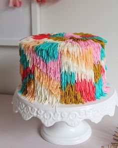 Because who doesn't like a little shag rug cake ? Because who doesn't like a little shag rug cake ? Pretty Cakes, Cute Cakes, Beautiful Cakes, Yummy Cakes, Amazing Cakes, Crazy Cakes, Fancy Cakes, Cake Cookies, Cupcake Cakes