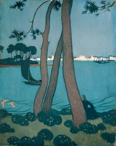 Maurice Denis, Pines at Loctudy, 1894 http://inland-delta.tumblr.com/post/139725175116/maurice-denis-pines-at-loctudy1894