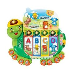 NEW - Touch and Teach Turtle - 80-079800 by VTech. $25.99. Ages 12-36 MonthsFeatures a 16-page book for learning letters and shapesColorful light-up buttons interact with the bookEight number buttons teach numbers and musicIncludes a handle for on-the-go learningFeatures three modes of play, Letter Mode, Story Mode and Music Mode