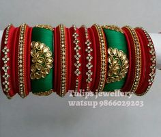 Silkthread bangles with aariwork Silk Thread Bangles, Thread Jewellery, Beaded Necklace Patterns, Bridal Bangles, Indian Jewelry, Handcrafted Jewelry, God, Amazing, The Creation
