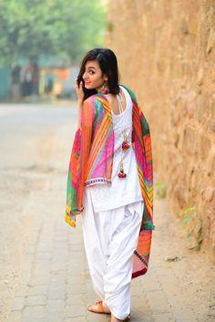 Buy now from The JTStore Printed Kivi Pc Cotton Aashmi Patiala Suit Rs Patiala Dress, Patiala Salwar Suits, Punjabi Dress, Shalwar Kameez, Churidar, Punjabi Girls, White Punjabi Suits, White Salwar Suit, White Kurta