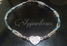 "Apparitions ""Heart"" Anklet  8"""