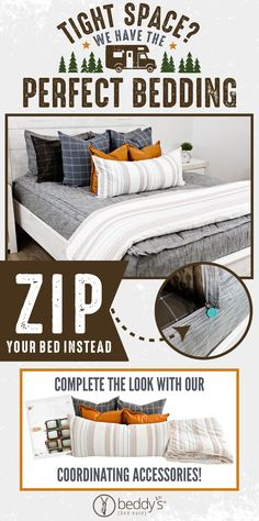 """Start your morning off right! With Beddy's we make it easy. All you do is zip! Use code """"PINTEREST"""" for a discount. #beddys #beddysbeds #zipperbedding #zipyourbed #bunkbeds Girls Bedroom, Bedroom Ideas, Bedroom Decor, Beddys Bedding, Zipper Bedding, Make Your Bed, Bunk Beds, Color Schemes, Comforters"""