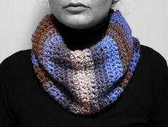 Neck warmer multi-coloured yarn by MmeDefargeYarnworks on Etsy