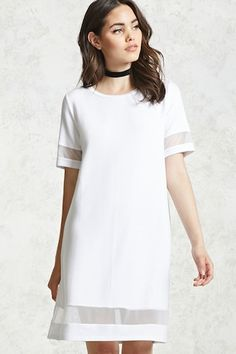 Contemporary Mesh-Cutout Dress
