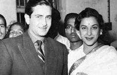Raj Kapoor and Nargis.