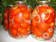 """Помидоры """"Сказочные"""" Canning Recipes, Learn To Cook, Food Design, Kimchi, Slow Cooker Recipes, Preserves, Pickles, Cooking Tips, Avocado"""
