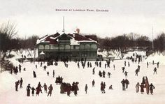 Skating at Lincoln Park, Chicago : 1905