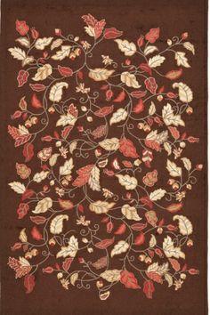 Martha Stewart Rugs Martha Stewart - Hand-Tufted Autumn Woods Francesca Black (MSR-3611B) Area Rugs