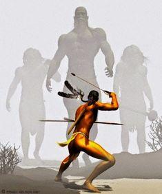 Antigos povos Gigantes encontrados no Novo Mundo, nas Américas