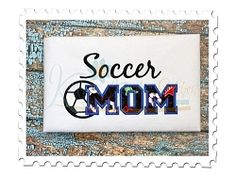Soccer Mom 5 Applique - 3 Sizes! | What's New | Machine Embroidery Designs | SWAKembroidery.com Katelyn's Kreative Stitches