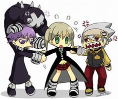 Soul Eater - Maka, Soul, and Crona