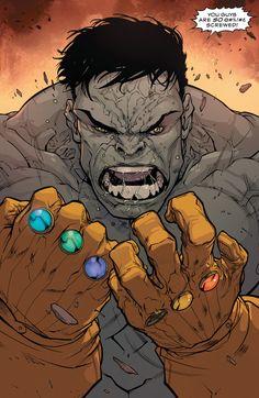 Grey Hulk with Infinity Gauntlets