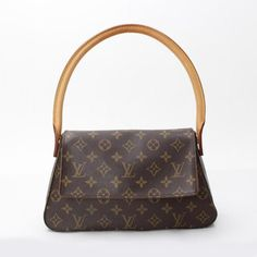 Louis Vuitton Mini Looping Monogram Shoulder bags Brown Canvas M51147