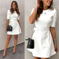 Best Casual Outfits, Casual Dresses, Fashion Dresses, One Piece Outfit, One Piece Dress, Vivi Fashion, Formal Looks, Casual Chic, Clothes For Women