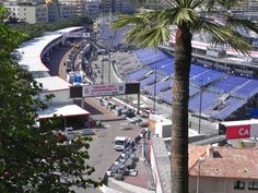 While in Monaco, Flat Stanley also got to see the city setting up for the famous Formula One car races.